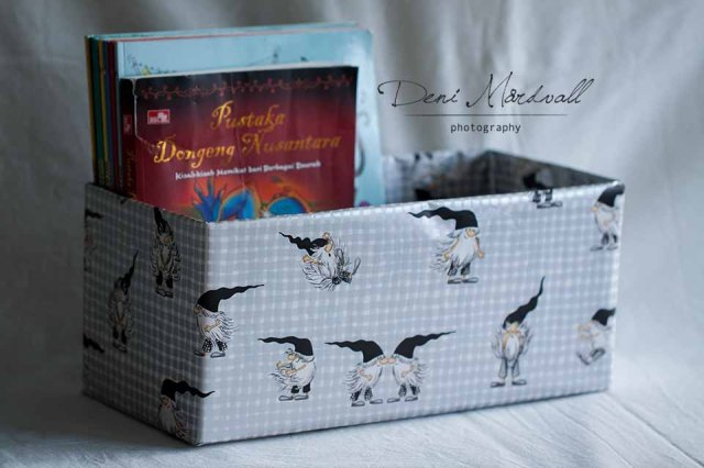 Craft: Flash Cards and Books Storage Boxes